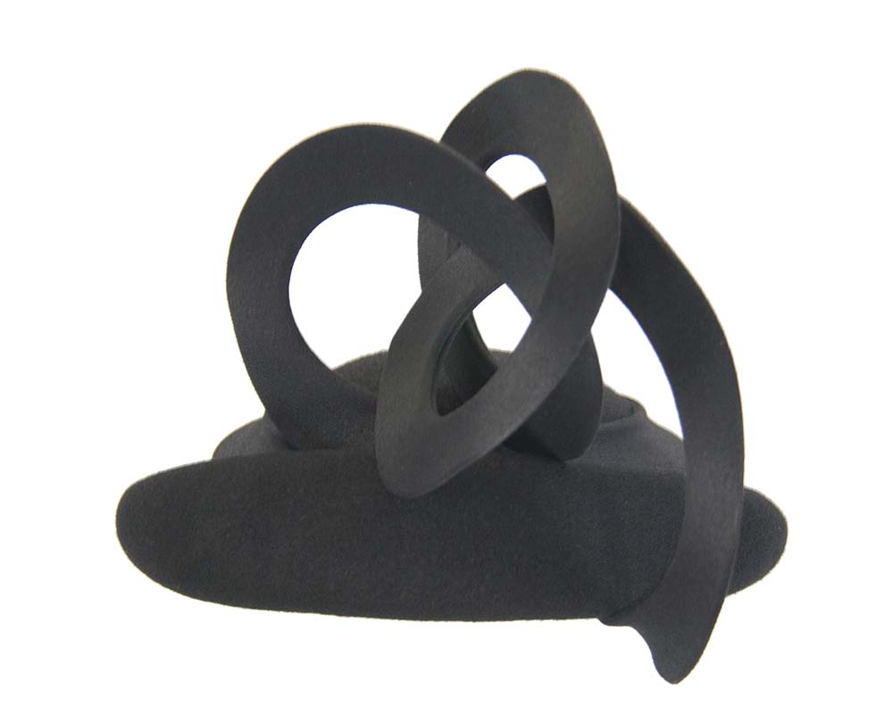Black felt designer fasinator Fascinators.com.au