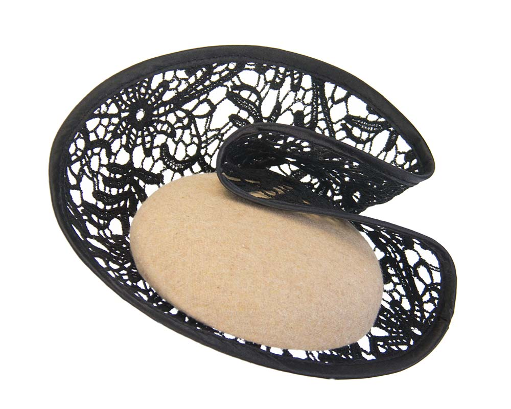 Beige lace winter fascinator Fascinators.com.au
