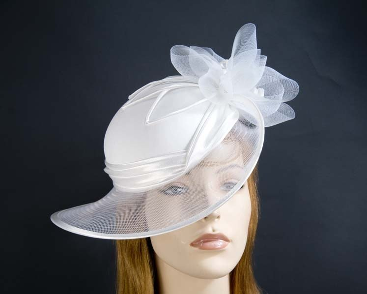 White Mother of the Bride hat Fascinators.com.au