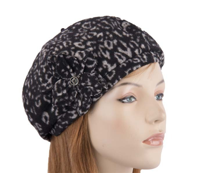 Black white beret J253BW Fascinators.com.au