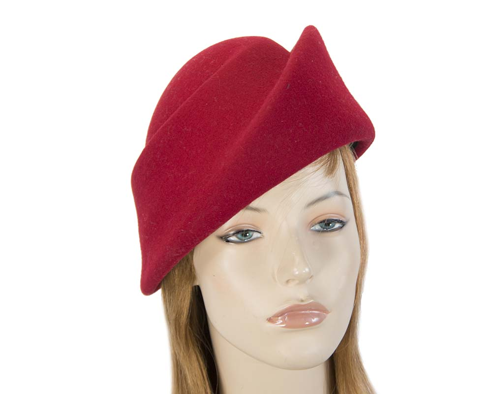 Red felt hats J317R Fascinators.com.au