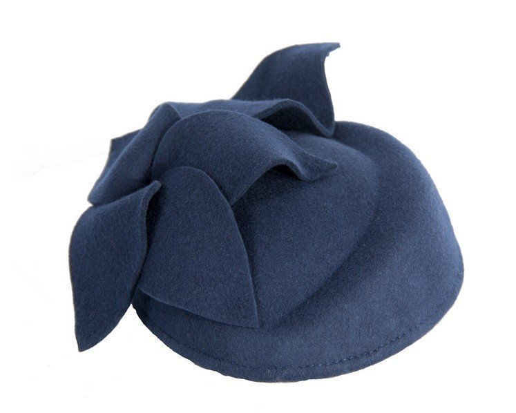 Navy felt pillbox fascinator Fascinators.com.au