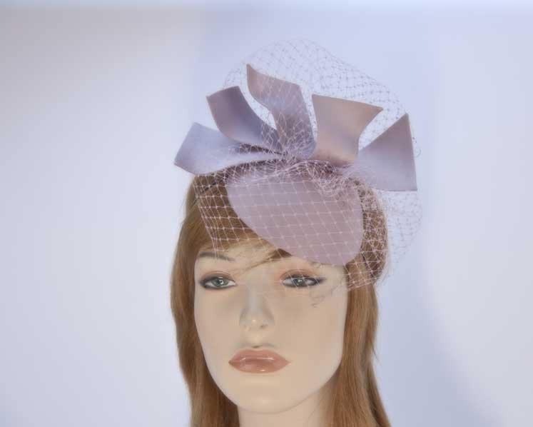 Tea Rose fascinator pillbox with veiling K5012TR Fascinators.com.au