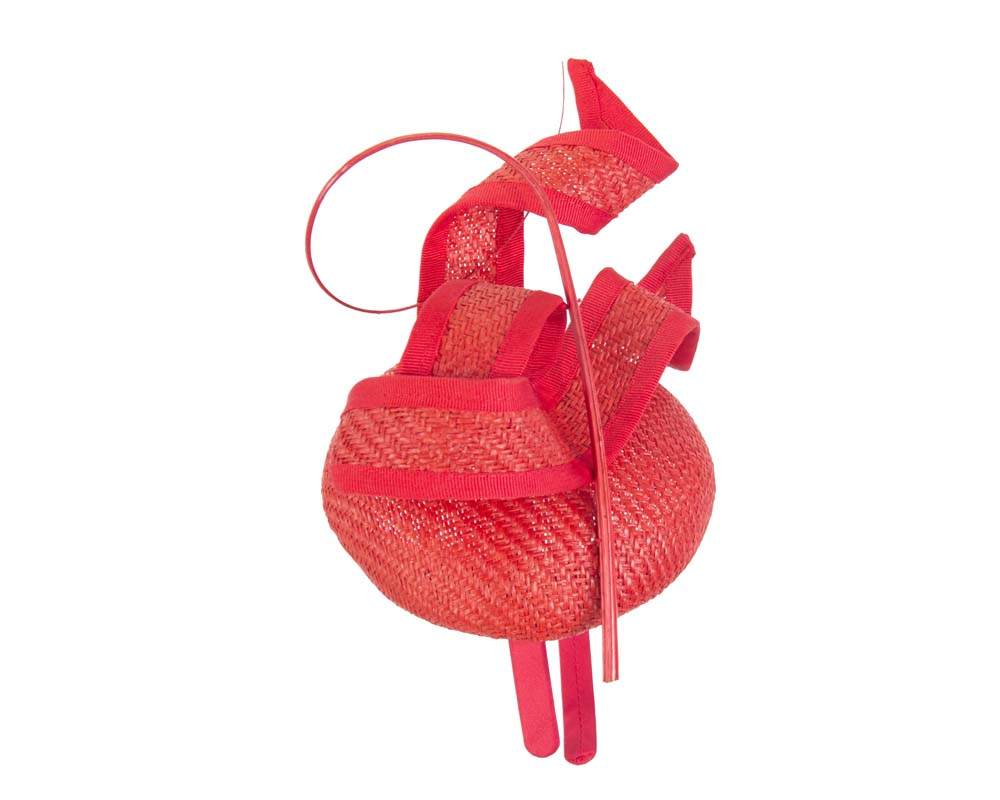 Tall red sculptured fascinator Fascinators.com.au