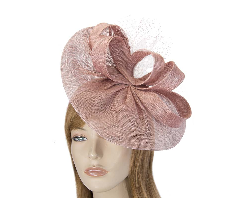 Large dusty pink sinamay fascinator by Max Alexander Fascinators.com.au MA795 dusty pink new