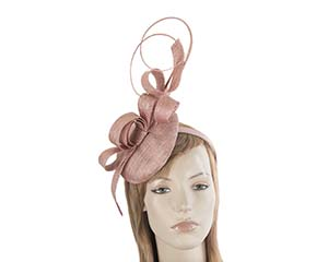 Tall dusty pink racing fascinator by Max Alexander Fascinators.com.au MA803 dusty pink thumb