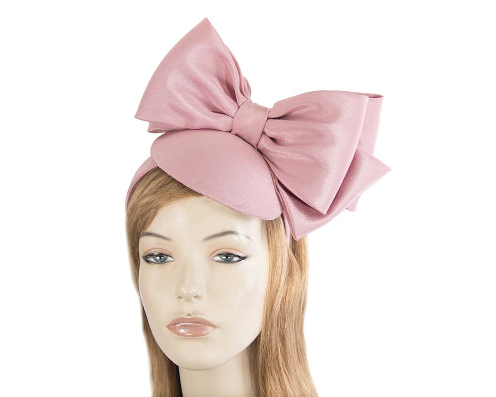 Large dusty pink bow fascinator by Max Alexander Fascinators.com.au MA805 dusty pink