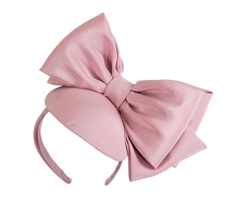 Large dusty pink bow fascinator by Max Alexander Fascinators.com.au