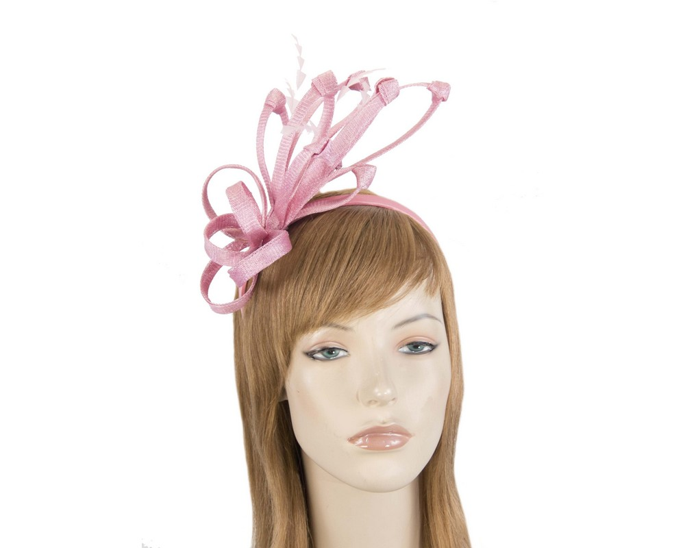 Dusty pink racing fascinator by Max Alexander Fascinators.com.au MA808 dusty pink