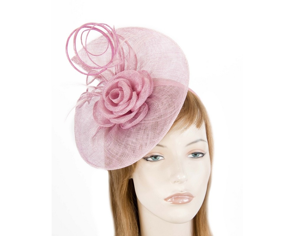 Dusty pink sinamay fascinator by Max Alexander Fascinators.com.au MA812 pink