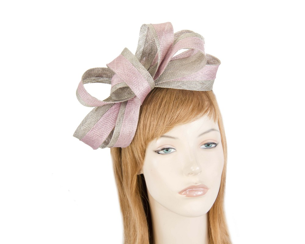 Silver and pink fascinator by Max Alexander Fascinators.com.au MA817 pink silver