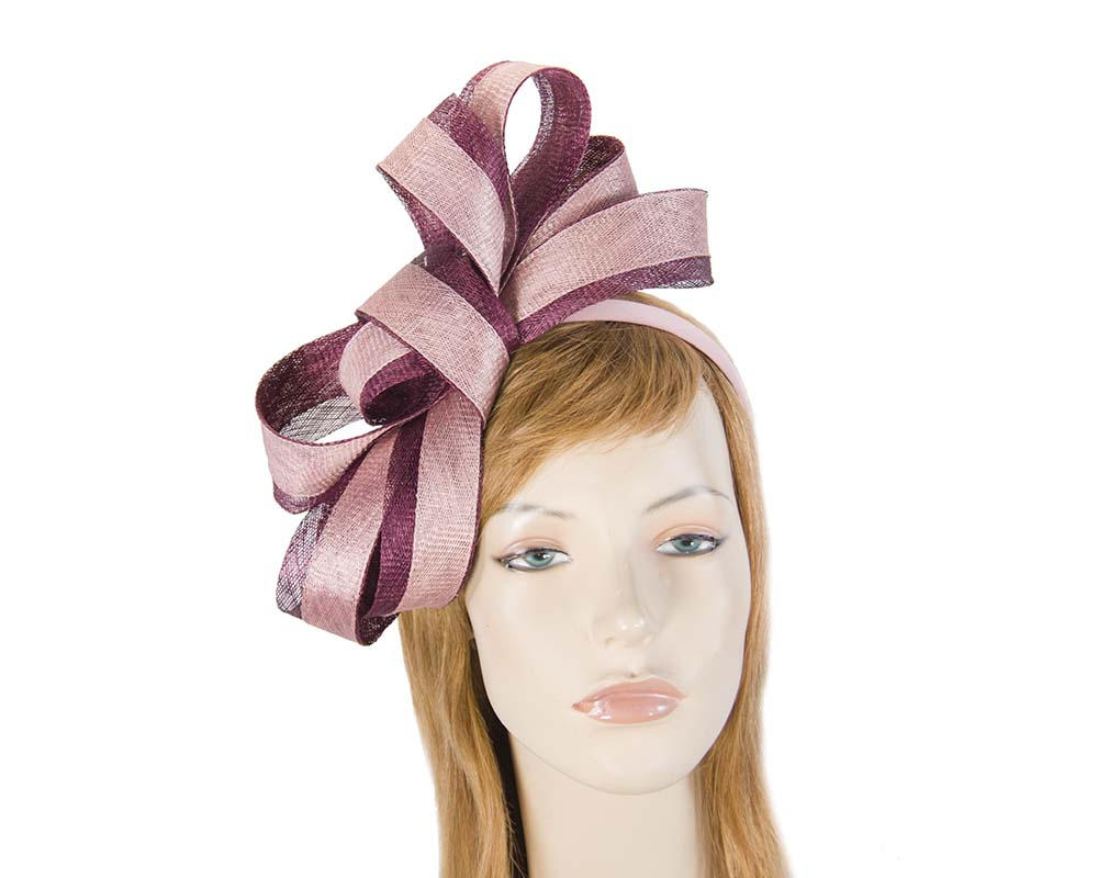 Burgundy and pink fascinator by Max Alexander Fascinators.com.au MA817 wine pink