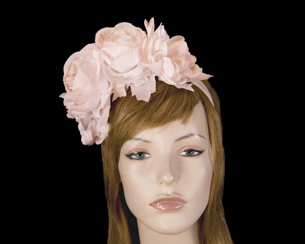 Blush flower headband by Max Alexander Fascinators.com.au MA820 blush