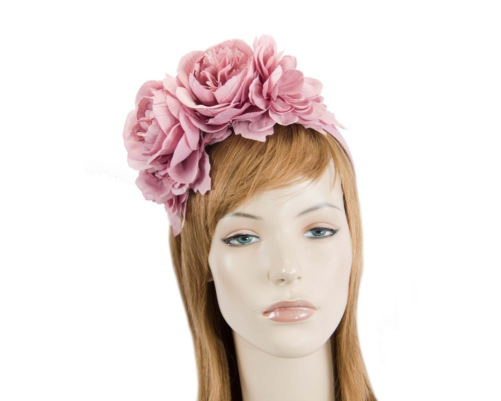Dusty pink flower headband by Max Alexander Fascinators.com.au MA820 pink