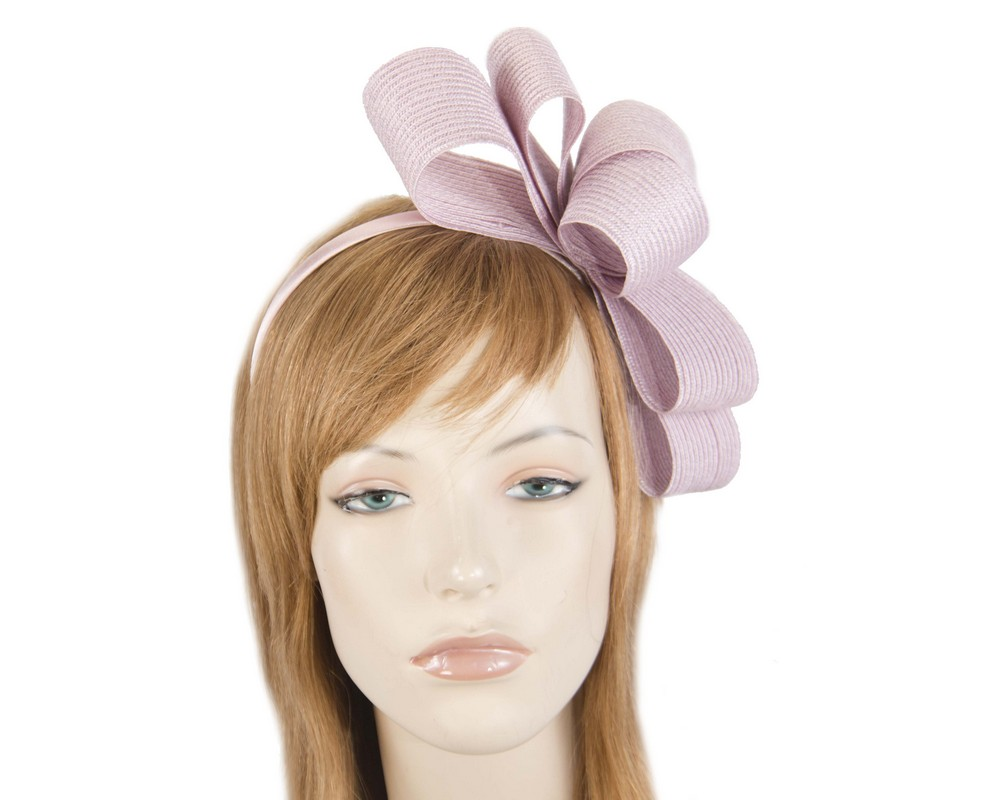Dusty pink bow fascinator by Max Alexander Fascinators.com.au MA821 dusty pink