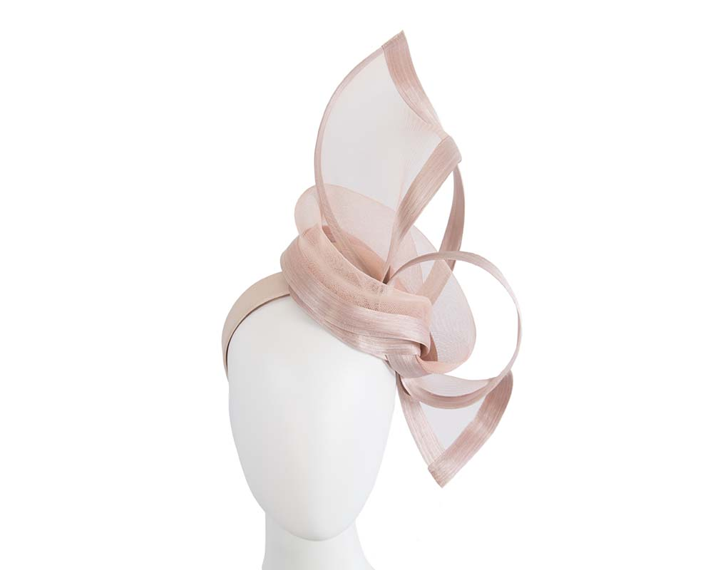 Exclusive blush fascinator for Melbourne Cup Derby races buy online in Australia Fascinators.com.au S107 blush