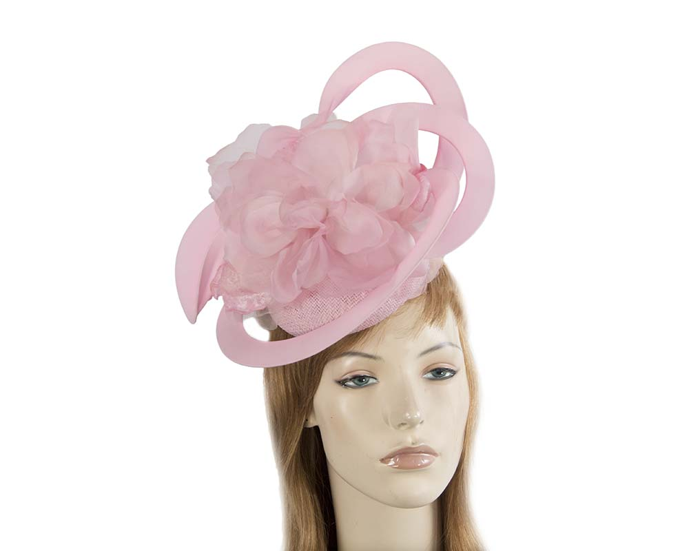 Unusual Australian made pink racing fascinator by Fillies Collection S155SP Fascinators.com.au S155 pink