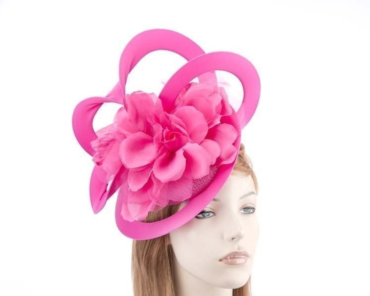 Unusual Australian made fuchsia racing fascinator by Fillies Collection S155F Fascinators.com.au