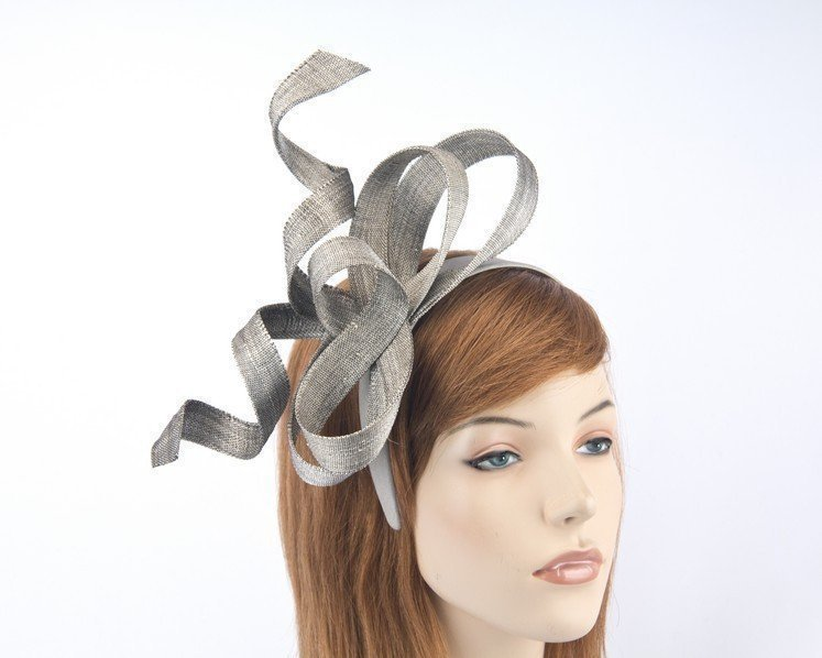 Australian made silver Fillies Collection racing fascinator for Melbourne Cup S169S Fascinators.com.au