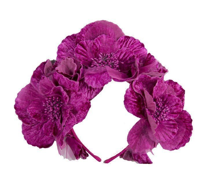 Fuchsia flower halo Fascinators.com.au