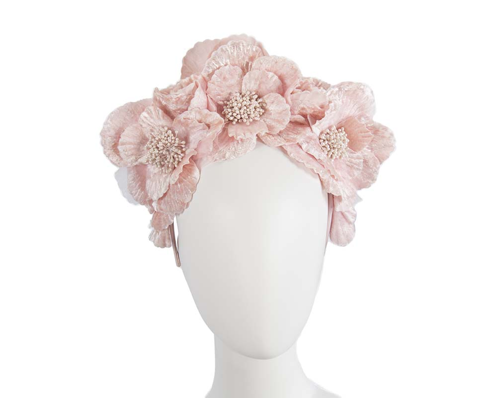 Pink flower halo Fascinators.com.au S189 pink