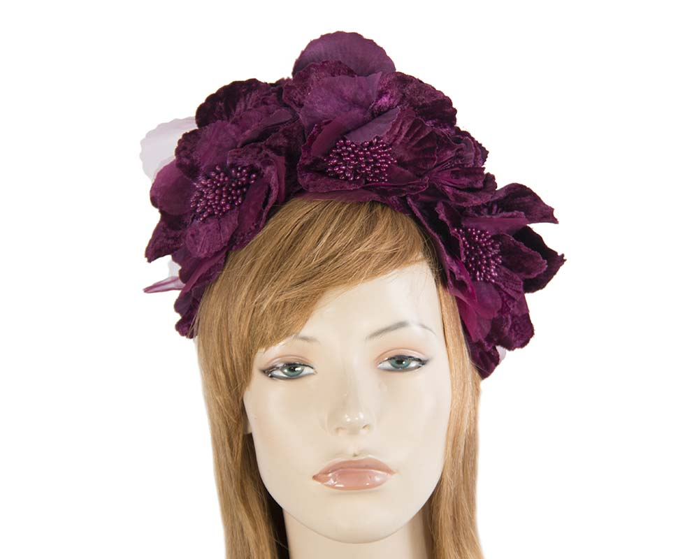 Wine flower halo Fascinators.com.au