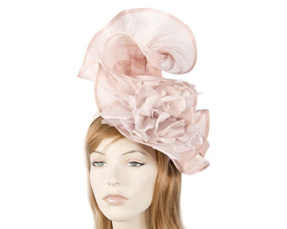 Bespoke blush flower fascinator Fascinators.com.au S190 pink
