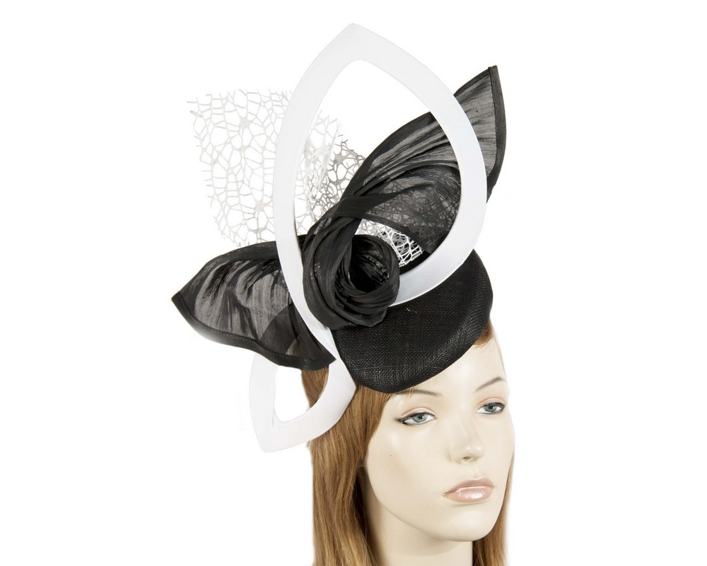 Designers black & white fascinator Fascinators.com.au