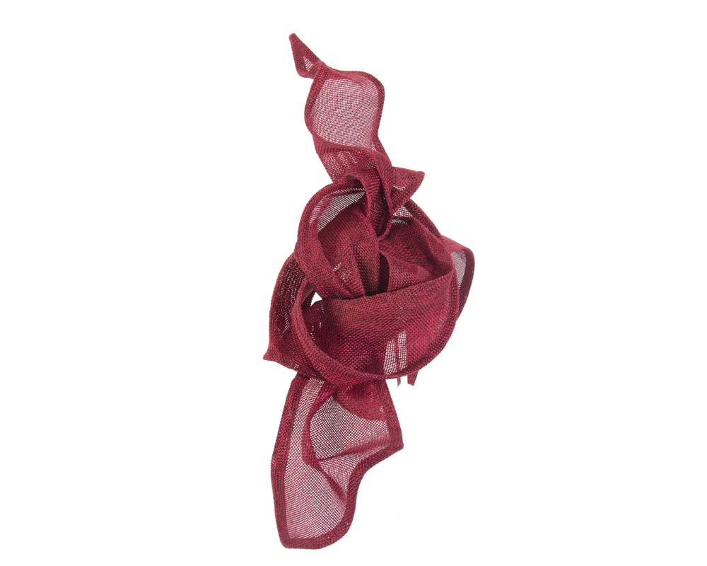 Bespoke twisted wine fascinator Fascinators.com.au
