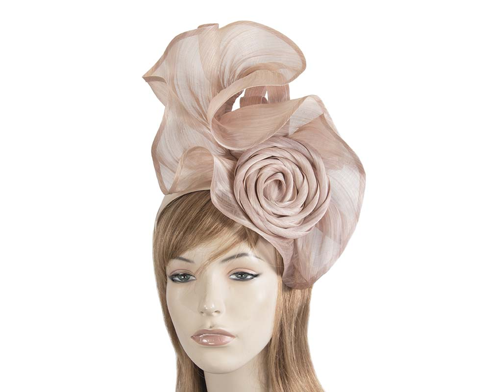 Exclusive blush silk abaca racing fascinator Fascinators.com.au S213 blush