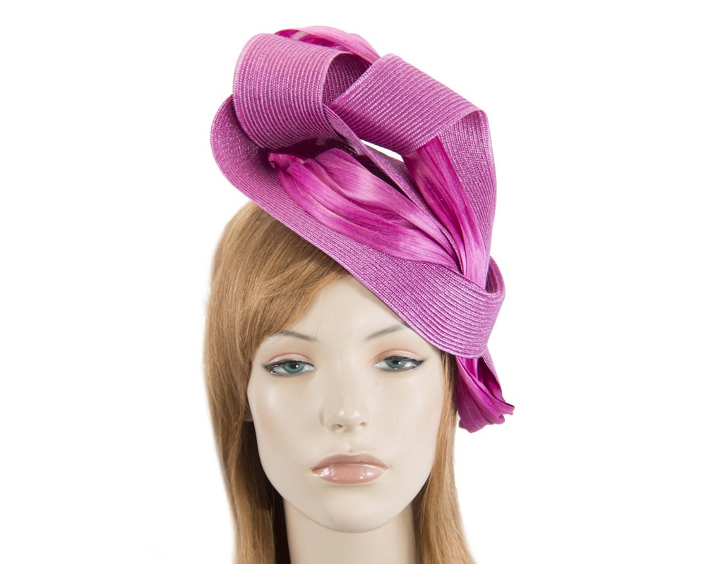 Fuchsia twists Fillies Collection fascinator Fascinators.com.au