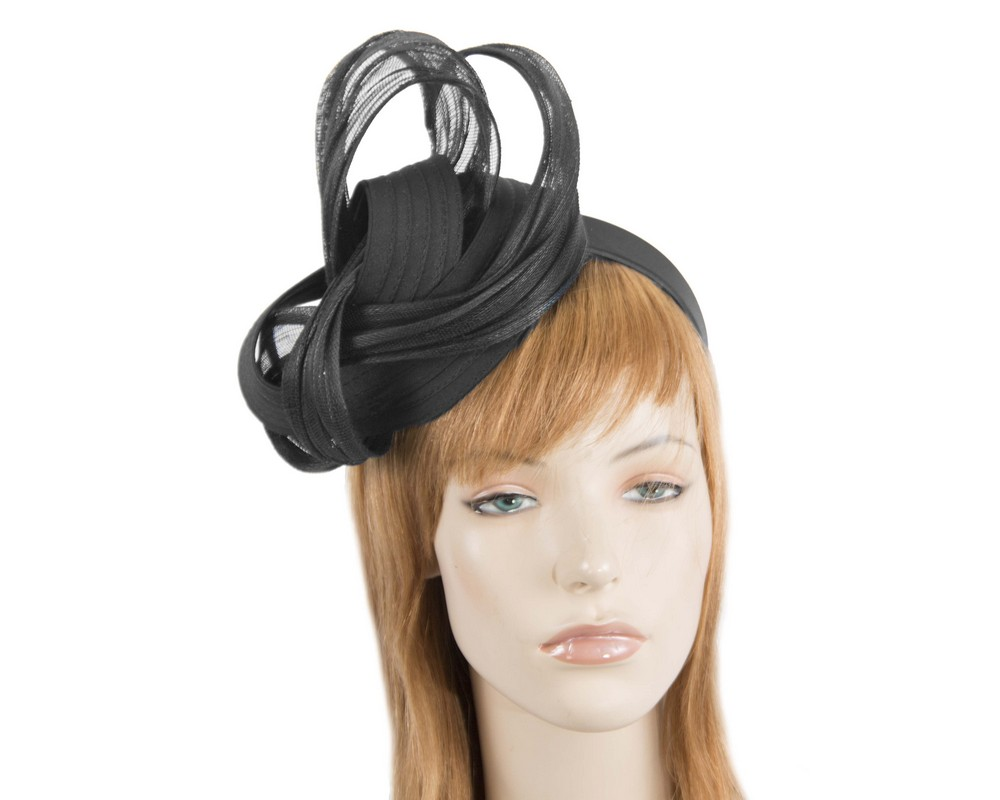 Black racing fascinator by Fillies Collection Fascinators.com.au