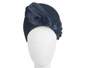Navy winter crown fascinator by Fillies Collection Fascinators.com.au