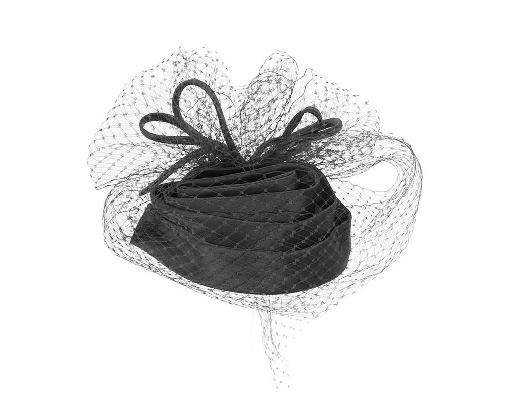 Black cocktail hats K4801B Fascinators.com.au